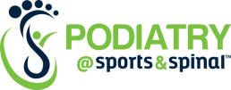 Podiatry @ Sports & Spinal Logo Green and Blue